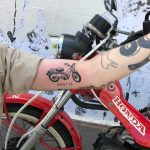 Honda CT110 'Postie' tattoo by yeahdope