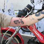 Honda CT110 'Postie' tattoo by yeahdope
