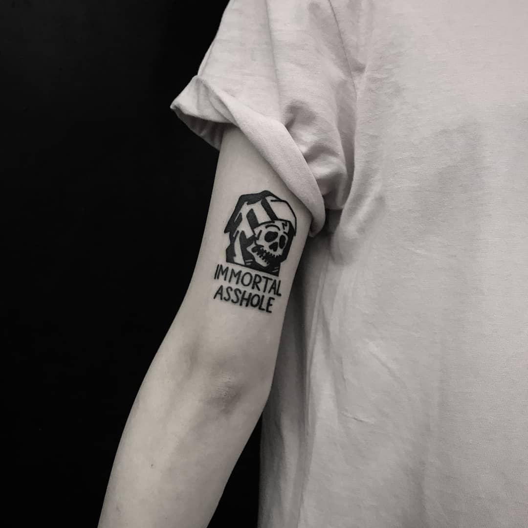 Immortal asshole tattoo by tattooist gvsxrt