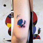 Joan Miro interpretation tattoo by Eugene Dusty Past
