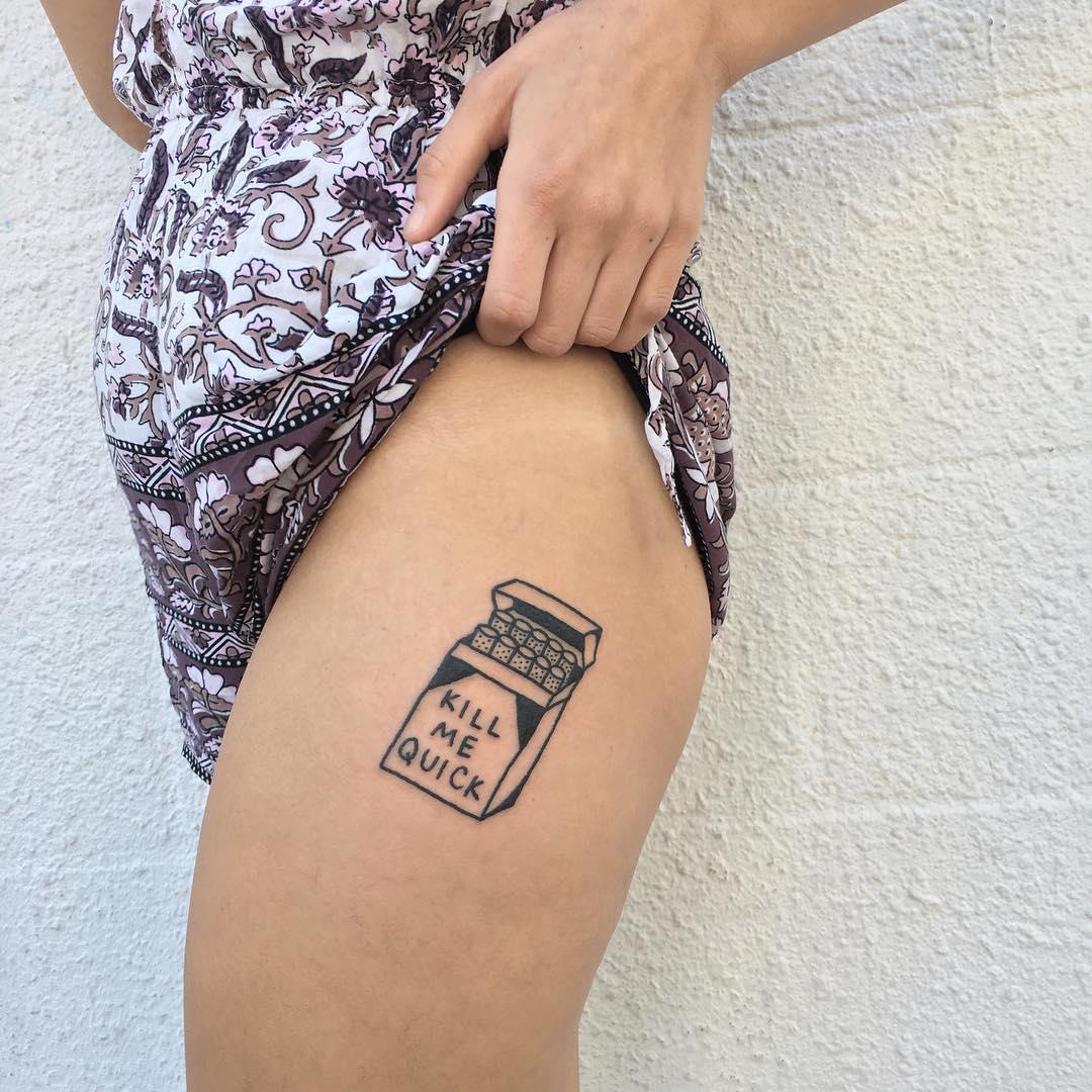 Kill me quick tattoo by yeahdope