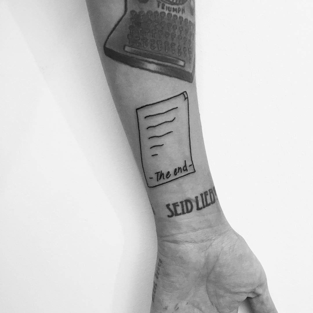 Letter tattoo by Philipp Eid