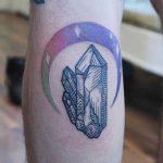 Little Amethyst moon tattoo by Emily Kaul
