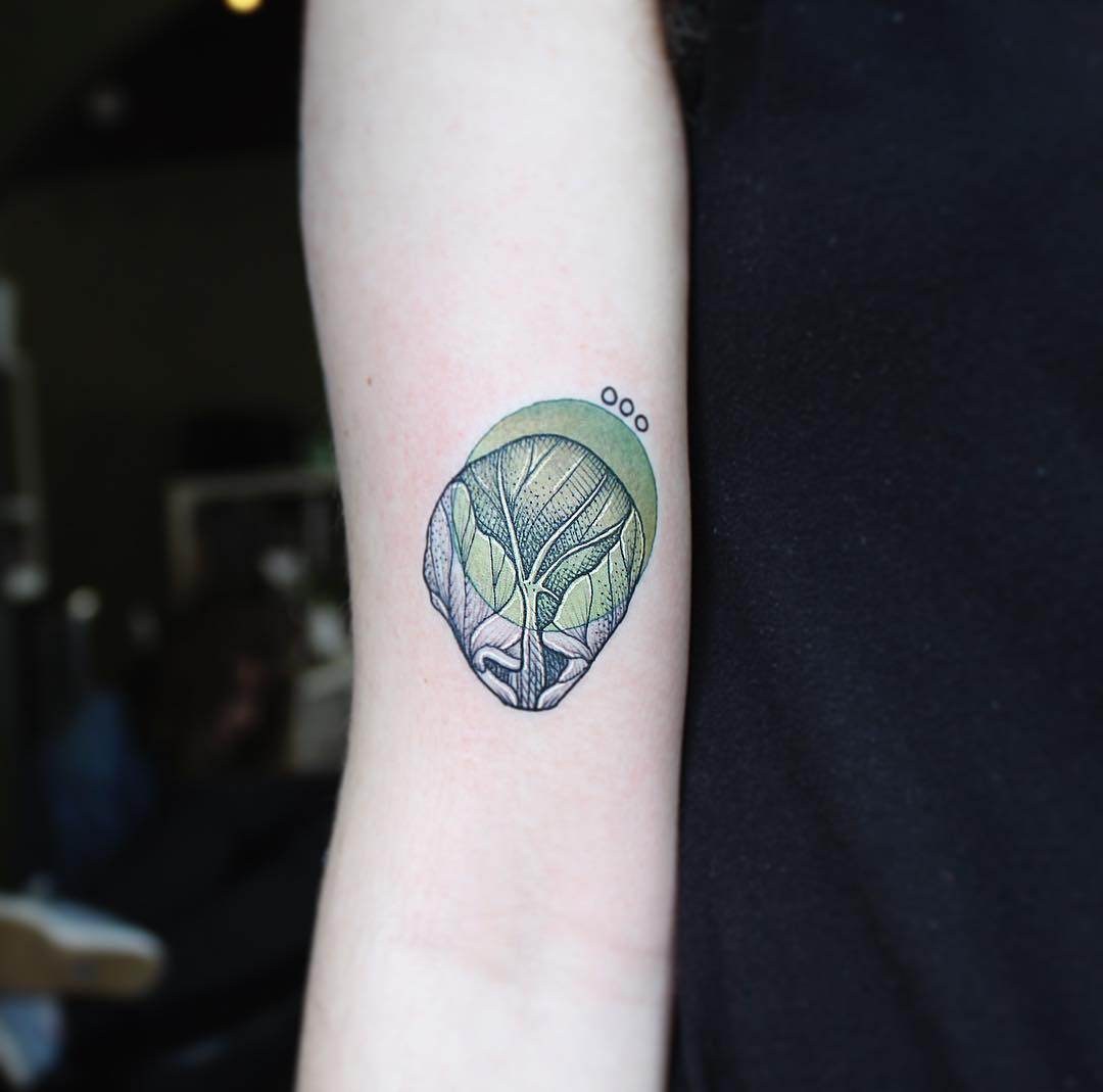 Little sprout tattoo by Emily Kaul