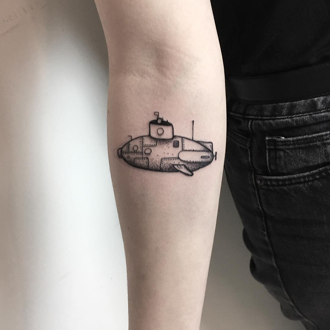 Little submarine by tattooist Spence @zz tattoo