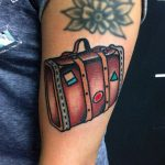 Little travel bag tattoo by Carina Soares