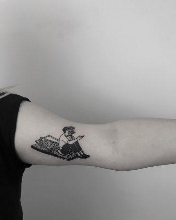 Love trap tattoo by Krzysztof Szeszko