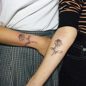 Matching roses for best friends by Suki Lune