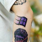 Mircrosoft Windows logo tattoo by Puff Channel