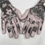 More finger tattoos by Carina Soares