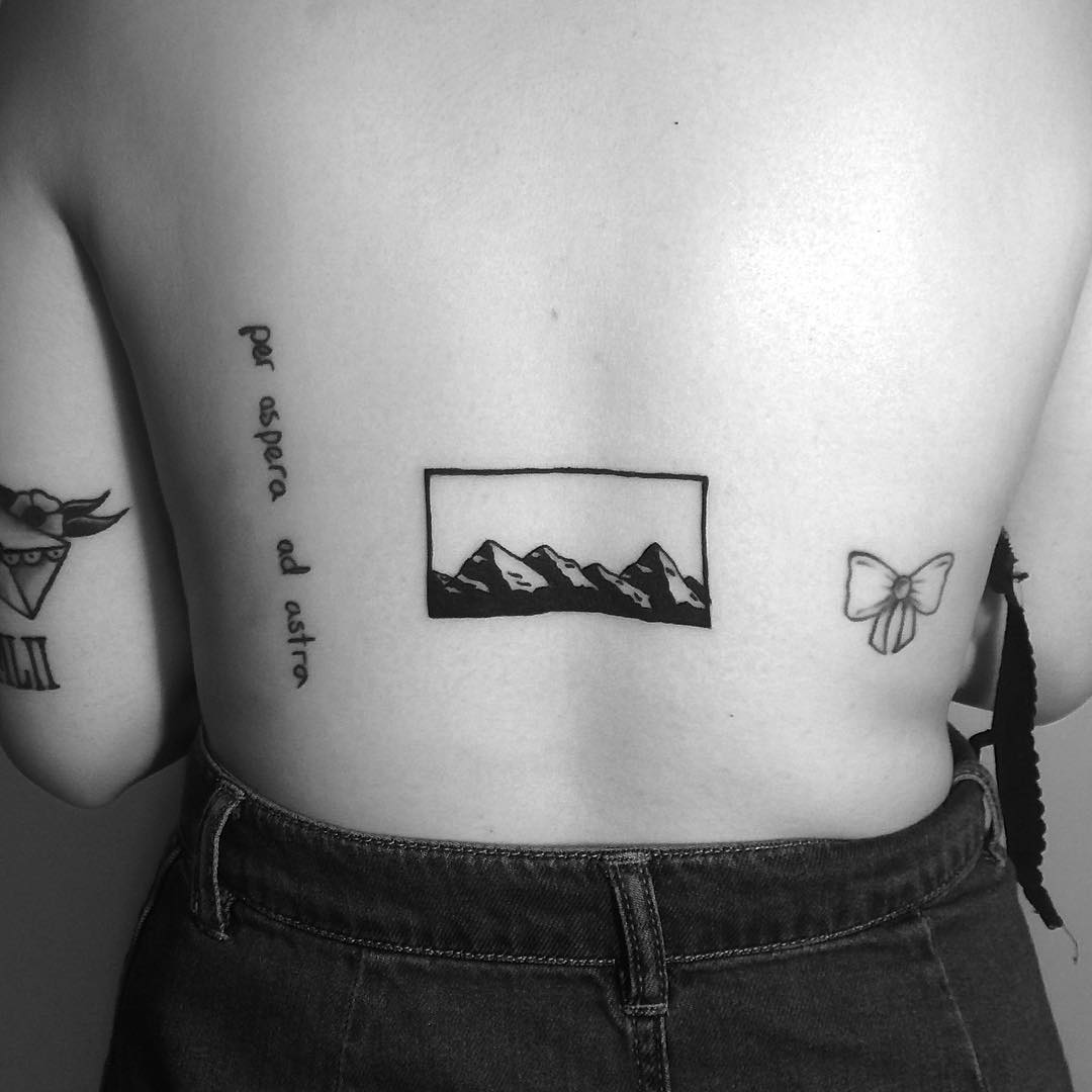 Mountain ranges inked by Chinatown Stropky