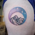 Mountains and moon by Emily Kaul