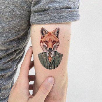 Mr. Fox tattoo by Eden Kozo