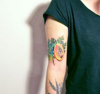 Papaya tattoo by Mavka Leesova