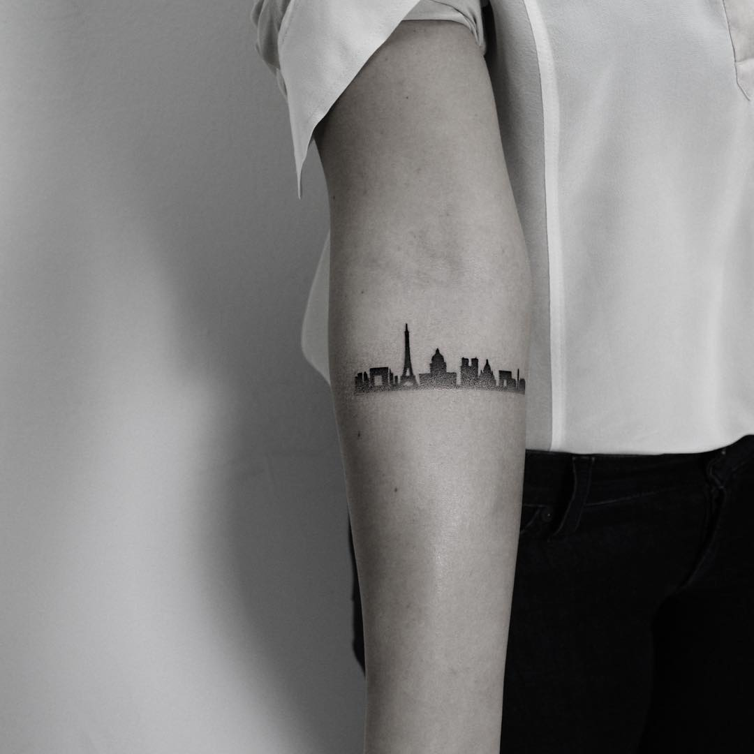 Paris tattoo by Oliver Whiting