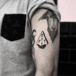 Protection rune tattoo by tattooist gvsxrt