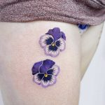 Purple pansies by tattooist picsola