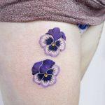 Purple pansies by tattooist picsola