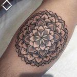Simple forearm mandala by Loz Thomas