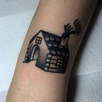 Small house tattoo by Carina Soares