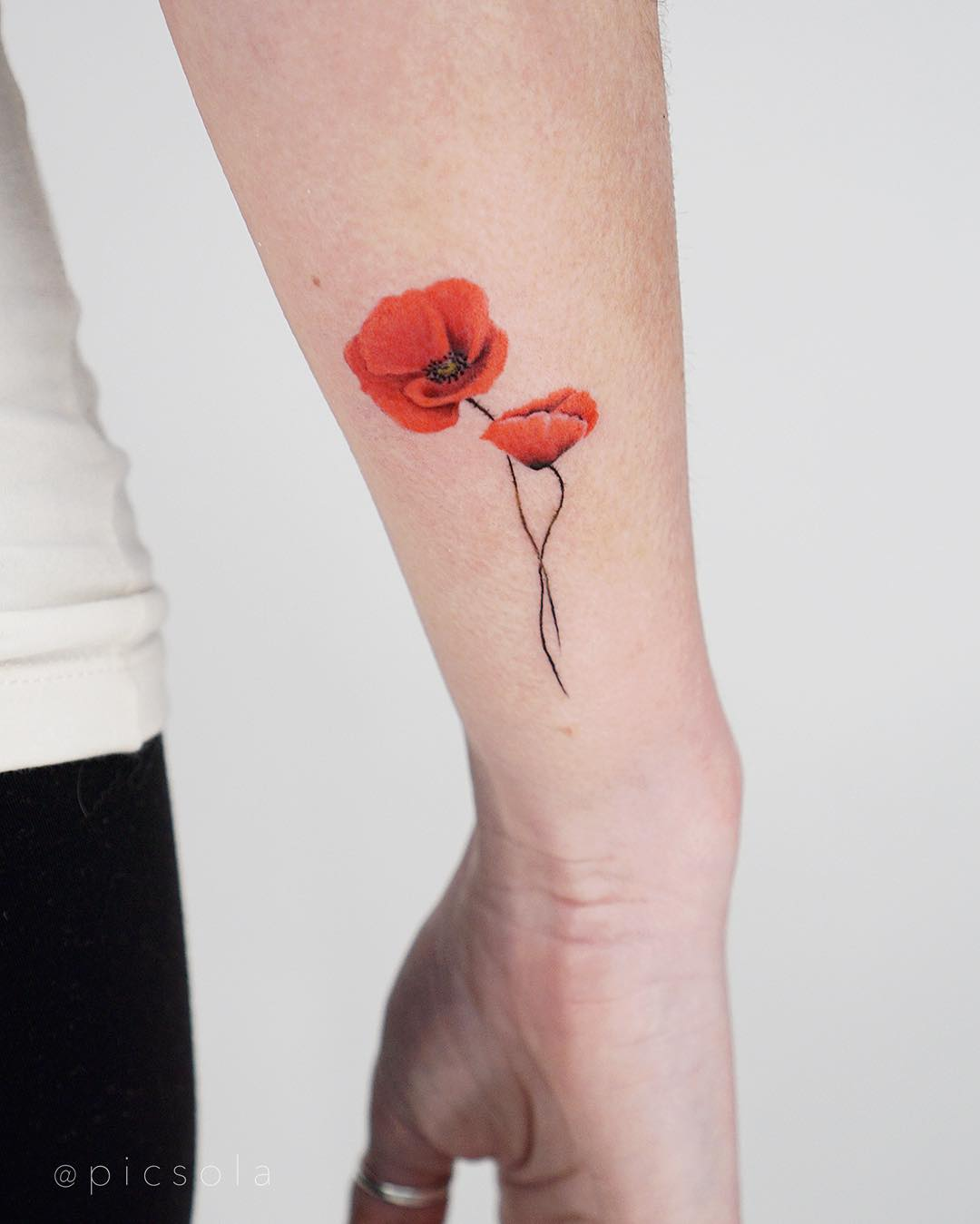 Small poppies by tattooist picsola