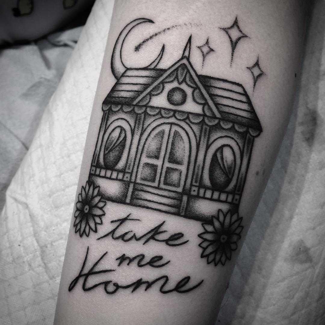 Take me home tattoo by Belladona Hurricane