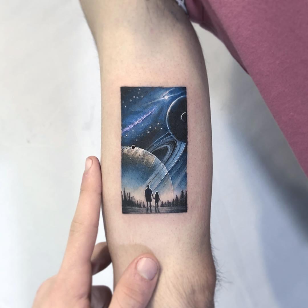 Wanderlust tattoo by Eden Kozo