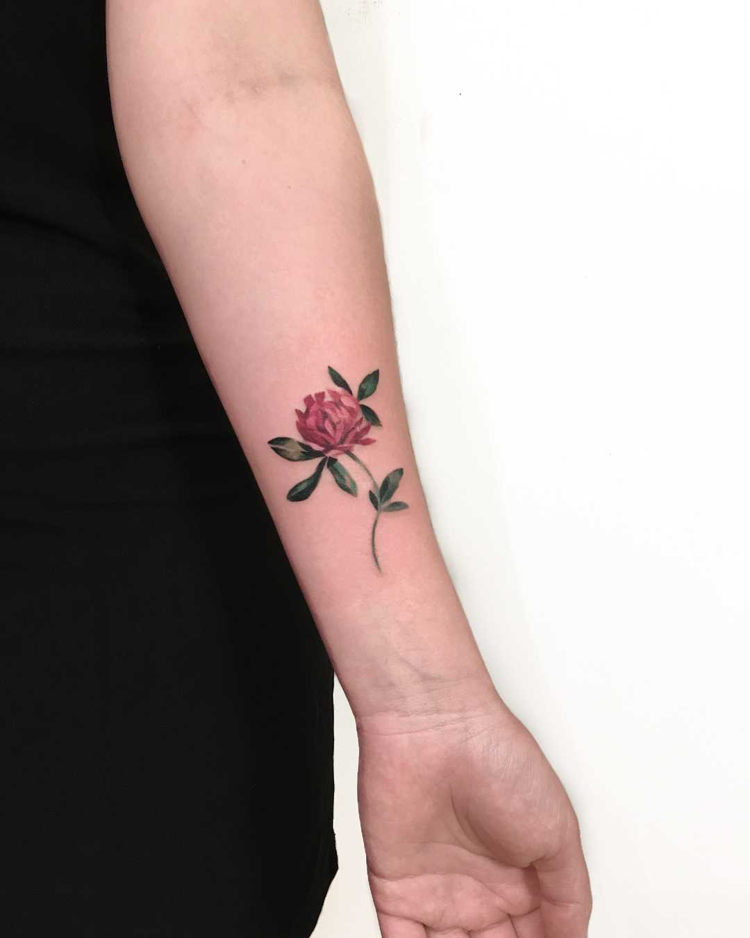 Watercolor clover tattoo by Mavka Leesova