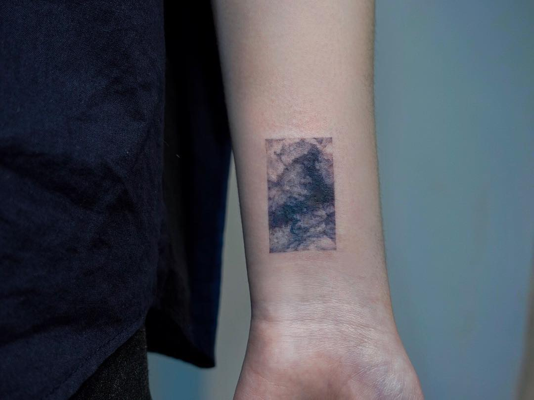 Abstract clouds by tattooist Yeonho