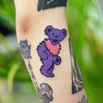 Acid bear tattoo by Puff Channel