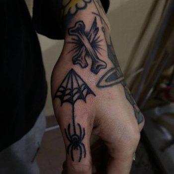 Blackwork tattoos by Puff Channel