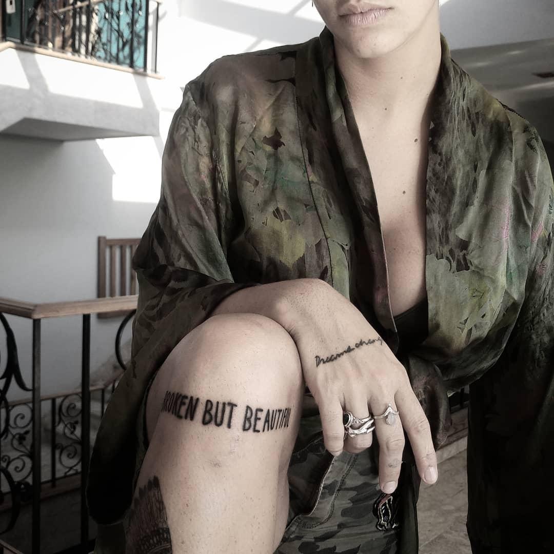 Broken but beautiful by tattooist gvsxrt