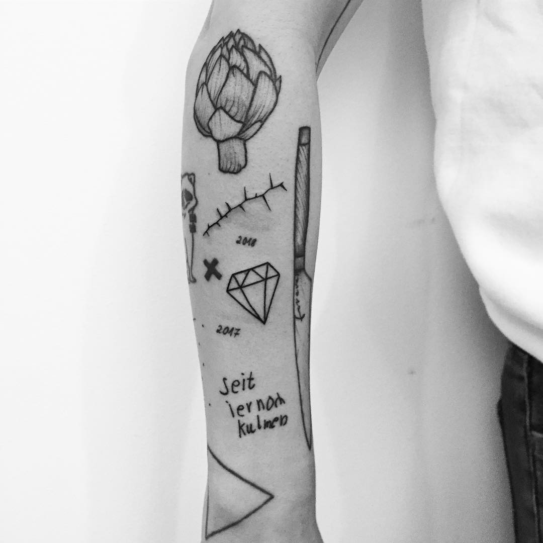 Collection of various tattoos by Philipp Eid