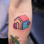 Colorful deconstructed house by Puff Channel