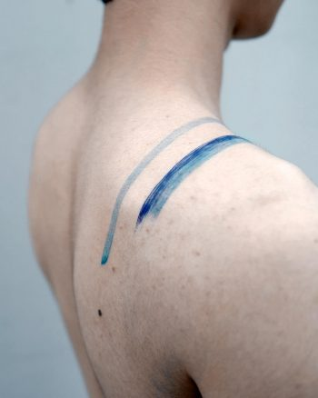 Freehand watercolor lines by Studio Bysol