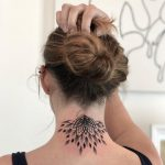 Half mandala on the neck by Remy B