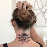 Half mandala on the neck by Remy B