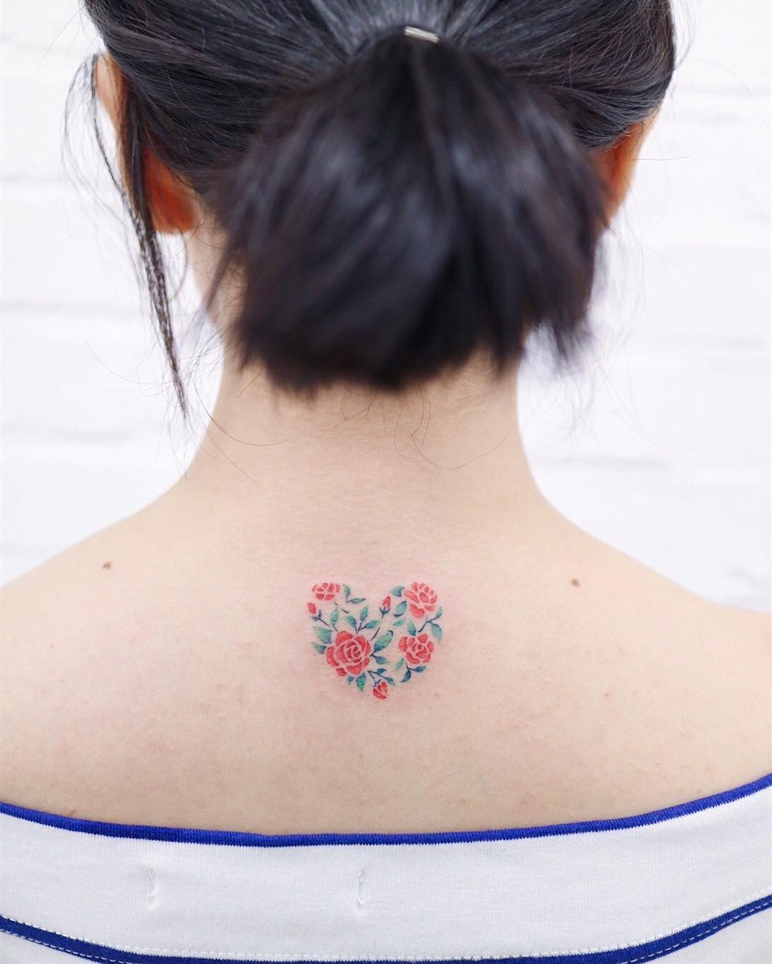 Heart rose by tattooist Nemo
