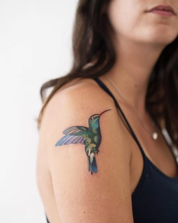 Hummingbird tattoo by Rey Jasper