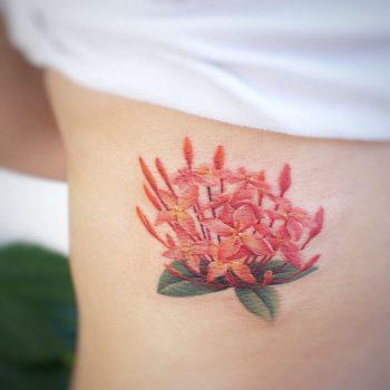 Jasmine flower tattoo by tattooist G.NO