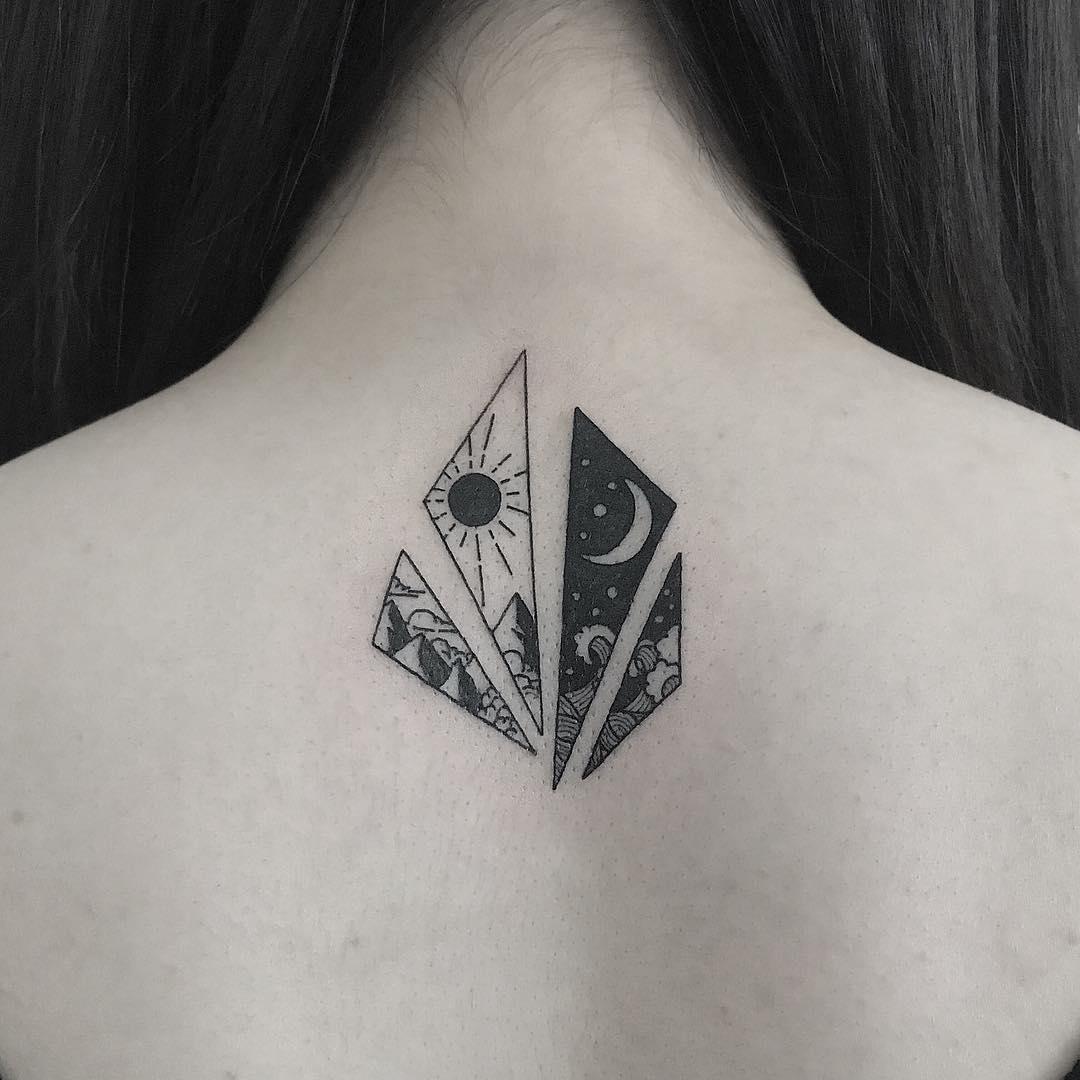 Landscape pieces by Nudy tattooer