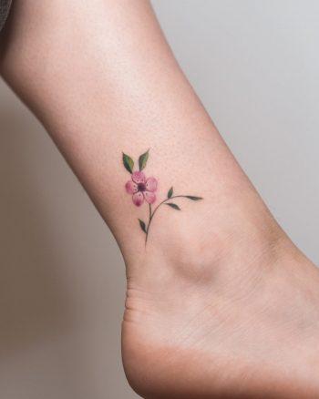 Manuka flower tattoo by Rey Jasper