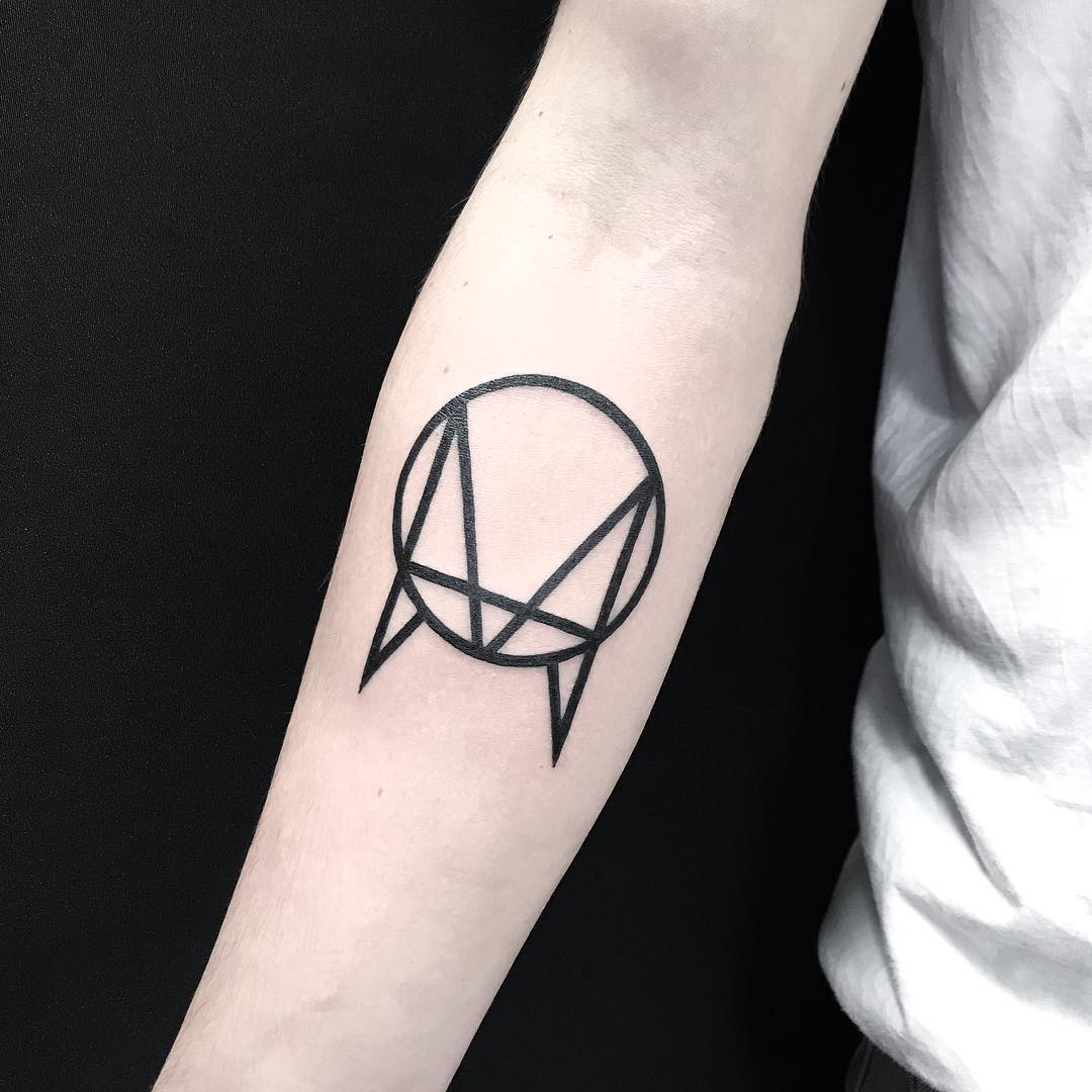 Owsla logo tattoo by Loughie Alston