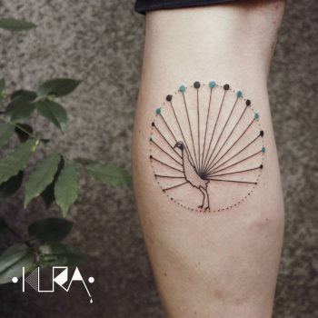Peacock tattoo by Aga Kura