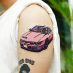 Pink car tattoo by Puff Channel