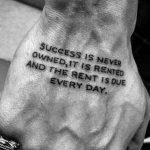 Quote tattoo by Philipp Eid