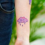 Sad cloud tattoo by Puff Channel
