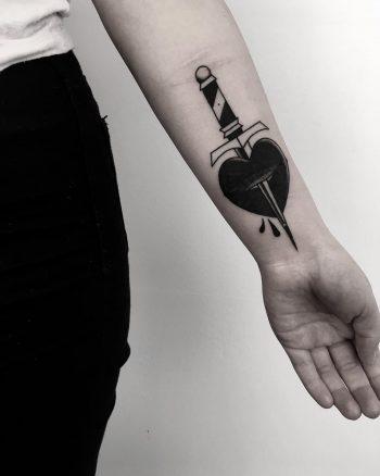 Scar cover-up tattoo by Krzysztof Szeszko