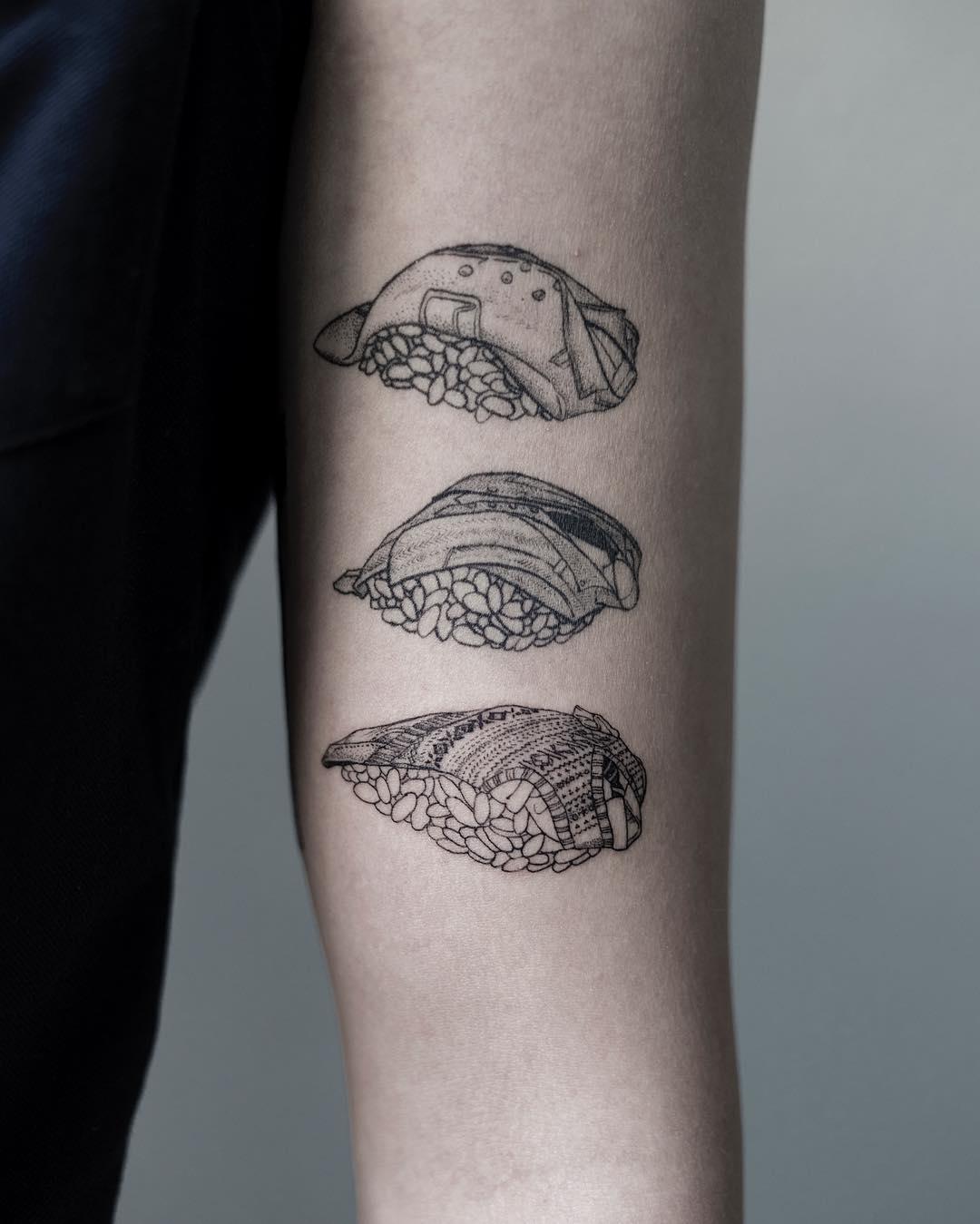 Sushi dress by tattooist Oozy