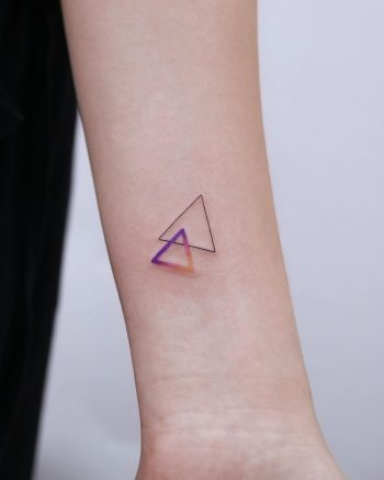 Two triangles by tattooist Nemo